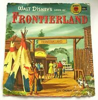 Disney Vintage 45 rpm Song of Frontierland Yellow Record with Sleeve circa 1960
