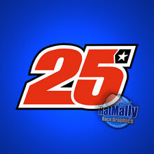 MAVERICK VINALES 25 MOTOGP RACE NUMBER STICKERS DECALS GRAPHICS x3 (replica)