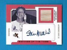 STAN MUSIAL Autograph 2004 FLEER EX AUTO Signed +BAT RELIC Cardinals SER #d /69