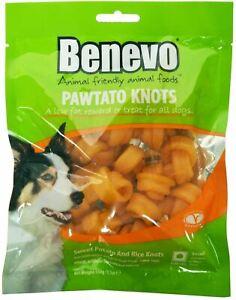 Benevo Dog Treats Pawtato Small Knots with 87% Sweet Potato - Vegan