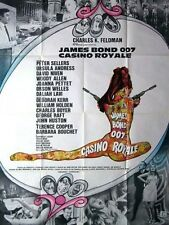 Affiche 120x160cm CASINO ROYALE 1967 David Niven, Ursula Andress, Peter Sellers
