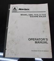 AGCO New Idea Model 7205, 7210 & 7215 Square Baler Owner's Operator's Manual