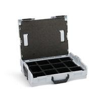 Bosch Sortimo Werkzeugkoffer L Boxx 102 Gr1 Einlage mit 12 Fächern grau