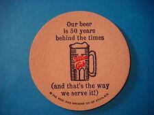 Beer Coaster ~ WEST END Brewing Co UTICA Club, 50 Years Behind Times ~ New York