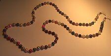 Eyeglasses Lanyard Spectacle Chain Multi Coloured Beaded Handmade Christmas