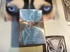 ZIPPOS JAPANESE SPIN CUT WORD OF ZIPPO  MINT COND NEW IN BOX RARE COLLECTABLE