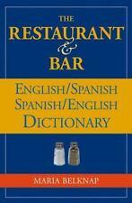 NEW - The Restaurant & Bar English/Spanish Spanish/English Dictionary