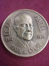 MEDAILLE bronze Louis PRADEL maire de LYON 1957 1976 sig CR.MACHER B92