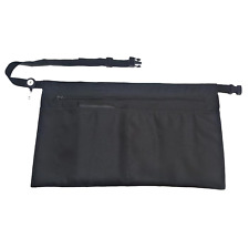 Clip On Black Apron 5 Pockets With Zipper Half Apron With Adjustable Strap