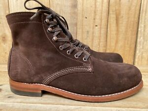 Wolverine 1000 Mile Suede  Chocolate USA Horween-Chromexcel Leather Sz- 9 D