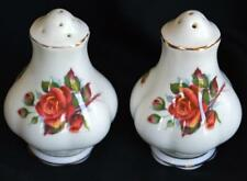 Pretty Vintage Royal Albert Centennial Rose Bone China Salt & Pepper Shakers