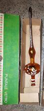 Antico Puntale In Vetro per Albero di Natale Addobbi Vintage scatola originale