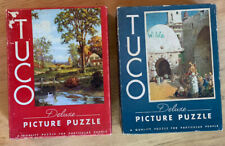 Vintage Tuco Deluxe Picture Puzzles Lot Of 2 Both Fully Complete!