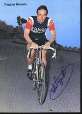 Roberto POGGIALI cyclisme ciclismo cp Signée 70s Team ZONCA autografo ciclista