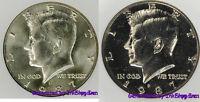 1987 P & D Kennedy Half Dollar Gem Bu 2 Coin Set