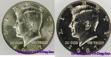 1987 P & D Kennedy Half Dollar Gem Bu 2 Coin Set No Reserve