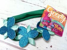 New Goody DreamWorks Trolls POPPY Headband Blue Sparkle Flower Girls Hair Band