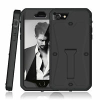 Shock Absorbing Full Body Protective Case Built in Screen Stand Cover for iPhone