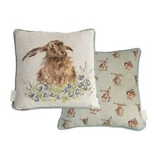 Wrendale Designs Bright Eyes Hare Cushion Feather Cushions NEW