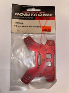 Robitronic Racing Parts CNC 6mm Machined Rear Tower (Red) #R26028R