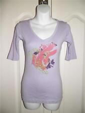 SLEDGE Lavender Multi Print Half Sleeve Shirt Small