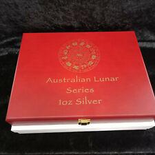 Coin Display Box :Holds Both Perth Mint Lunar 1oz Silver Series II & III