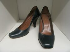 HOBBS SHOES DARK TEAL BLUE LEATHER SIZE 5 (38)