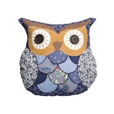 Marion- Sass and Belle blue patchwork owl cushion,ladies gift,birthday present