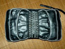 GÖRTZ 17 ausgefallene Nieten Clutch Damen Hand Tasche schwarz Schleife TOP #5