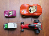Lot of 4 Vintage Tonka Metal Truck and Cars.