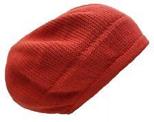 Red Beret Tam Hat Rasta Slouch Beanie Crochet Cap Dreadlocks Dreads Hair M/L Ras