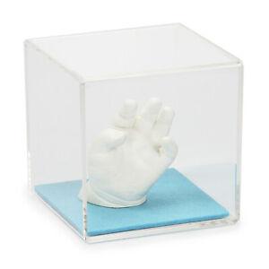 Lucky Hands Acrylic Glass Cube with Felt Bottom