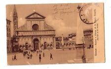 Firenze Piazza e Chiesa Santa Maria Novella  viaggiata      rif 8