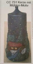 Giessform für Keramik CC 751Kerze mit Mühlenmotiv 26 cm hoch