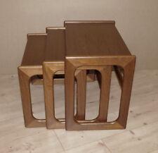 60er Jahre,Teak, Danish Nesting Tables, Dreisatz-Tisch, , Mid Century