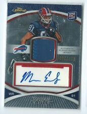 2010 Topps Fintest Marcus Easley PRIME PATCH RELIC AUTO RC 65/450 BILLS