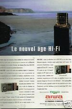 Publicité advertising 1992 La Chaine Hi-Fi Aiwa