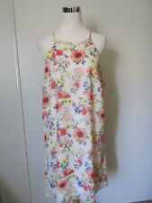 Forever 21+ White Floral Spaghetti Strap A-Line Summer Dress NWOT SZ: 1X