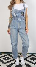Denim Dungarees XS UK 8 Fitted,  6 XXS Oversized Wide Tapered Leg (6I4H)