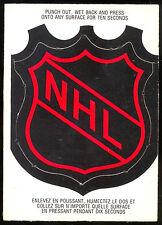 1973 74 OPC O PEE CHEE HOCKEY #1 NHL TEAM LOGO EX-NM CARD WITH FREE SHIP TO USA
