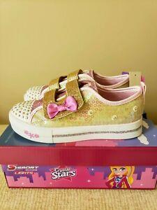 S Sport by Skechers Madelyne Pink/Gold Size 1 Little Girls