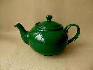 Vintage Teapot-  Green Ceramic Two Cup Teapot