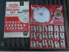 Craftsman Radial & Bench Saw Molding Blade Set #9-3215,18 Cutter Bits