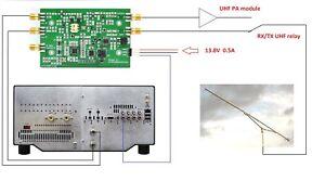 1296mhz to 50mhz or 144mhz Transverter board for FLEX RADIO UHF QRP 0.1W 23cm