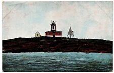 Egg Rock Light Frenchman Bay Maine Vintage Postcard H.C. Leighton Germany 28069