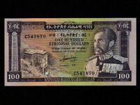 Ethiopia:P-29,100 Dollars,1966 * Haile Selassie * AU-UNC *
