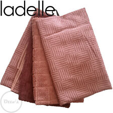 Ladelle Pink Sand 4 Pack Super Absorbent Quick Drying Microfibre Tea Towels