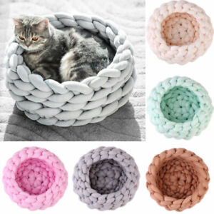 Knitted Pet Dog Cat Bed Puppy Pillow House Soft Warm Dog House Mat