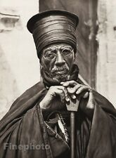 1925 Jerusalem Abyssinian Priest Toga Man Israel Palestine Religious Photo Art