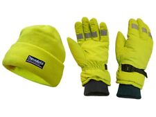 SCAN HI-VIS GLOVES & BEANIE HAT SET. THINSULATE LINED. ONE SIZE